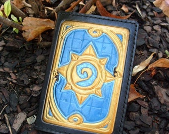 Leather Passport Cover With Hearthstone standard
