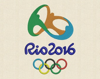Olympic Games RIO 2016 Machine Embroidery Design 3 sizes