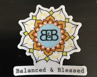 Balanced & Blessed Sticker