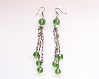 Green forest - long earrings