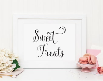 Sweet Treats sign, Candy Buffet sign, Wedding Candy Bar Sign, Dessert Station Sign, Wedding Dessert Table Sign, Wedding Dessert Sign, WCP04