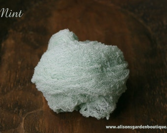 Mint Cheesecloth Baby Wrap