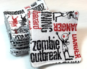 ZOMBIES! Facial Scrubbies, Reusable Facial Rounds, Facial Pads, Makeup Remover Pad, Face Wipe, Face Cloth, Cosmetic Pad, Reusable Pad