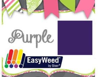 "12""x15"" Purple Siser Heat Transfer Vinyl Sheet. Iron On Vinyl. HTV. T-Shirt Vinyl. Heat Press Vinyl"