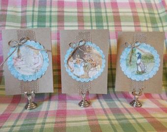 Beatrix Potter note cards- Set of 3