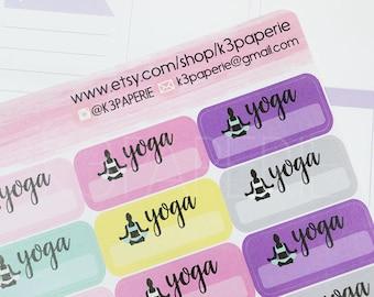 M024 // Yoga Class Planner Stickers