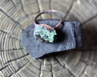 Raw Emerald Ring | Mid-Size Emerald Ring | Raw Emerald Ring | Rough Emerald Ring