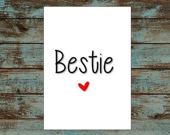 Bestie Best Friend Card