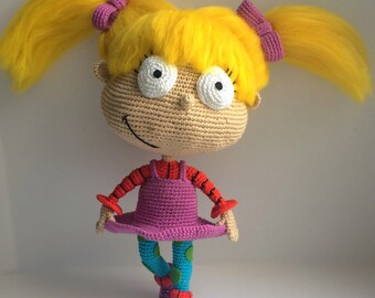 Angelica Pickles By Rugrats, PDF CROCHET PATTERN, Instant Download, Amigurumi