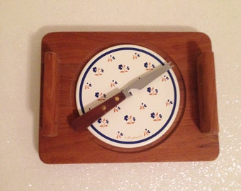 Adorable Vintage Cheese Serving Plate