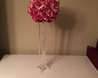 Wedding centerpiece rose topiary