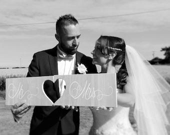 Mr & Mrs Joining Heart Sign