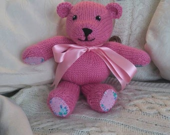 Wish-Bear - a hand knitted and sewn teddy bear with a wish woven into every stitch!