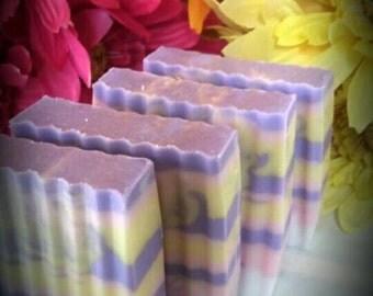 Refreshering Citrus Swirls  Soap bars/cold process handmade soap