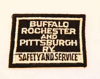 Vintage Railroad Patch Buffalo Rochester & Pittsburgh Railway Uniform Hat Patch
