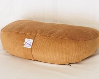 Crescent Shape Cushion Buckwheat Husk Fill (Zafu)