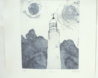 original etching ''il faro''