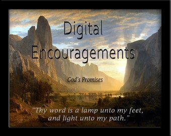 """30 Scripture Promises that offer Hope and Encouragement in a 7"""" Digital Frame"""