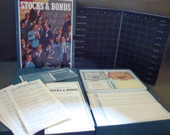 Stocks And Bonds 1964 Vintage Collectible 3M Bookshelf Games Complete