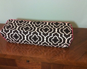 Cricut Maker and Cricut Explore/ Air/ Air2/ One Custom Handmade Dust Cover Black and White Quatrefoil with Pink Piping