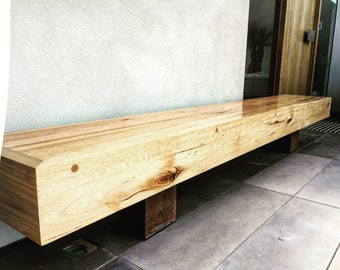 Recycled Reclaimed Timber Hardwood Outdoor Bench Seat