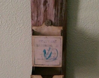 Reclaimed 100 Year Old Barn Wood, Antique Match Book Holder
