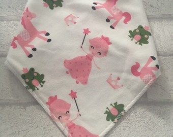 Princess dreams bandana bib