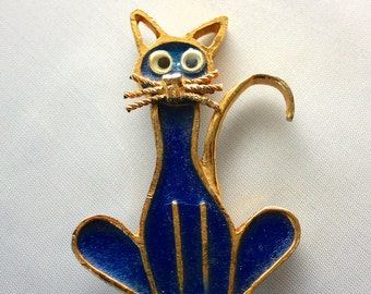 GOOGLY EYE CAT Brooch