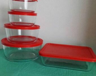 Pyrex glass set
