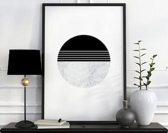 Circle print, abstract wall art print, modern art, minimalist print, minimal art, abstract poster, geometric art, abstract print, home art