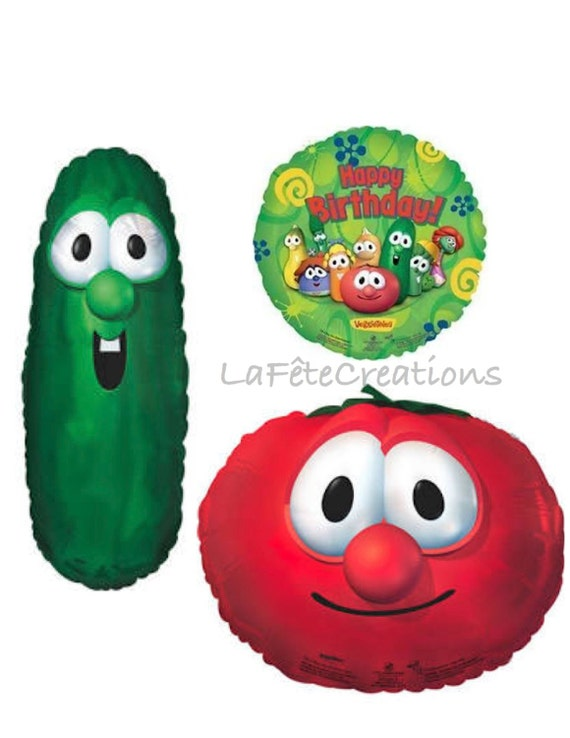 Veggie Tales Balloons 30 Larry the Cucumber / by ... Veggie Tales Larry The Cucumber And Bob The Tomato