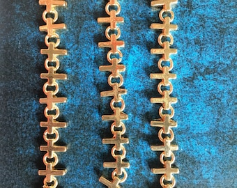 Gold tone cross charmed chains [11 inches]