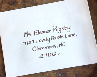 Custom Hand Addressed Envelopes