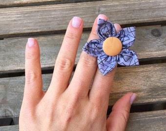 Handmade Hair clip Ring Headband or Brooch Kanzashi Flower, Baby Headband, Wooden Ring, Kids & mother Accessories, new born gift, gift her