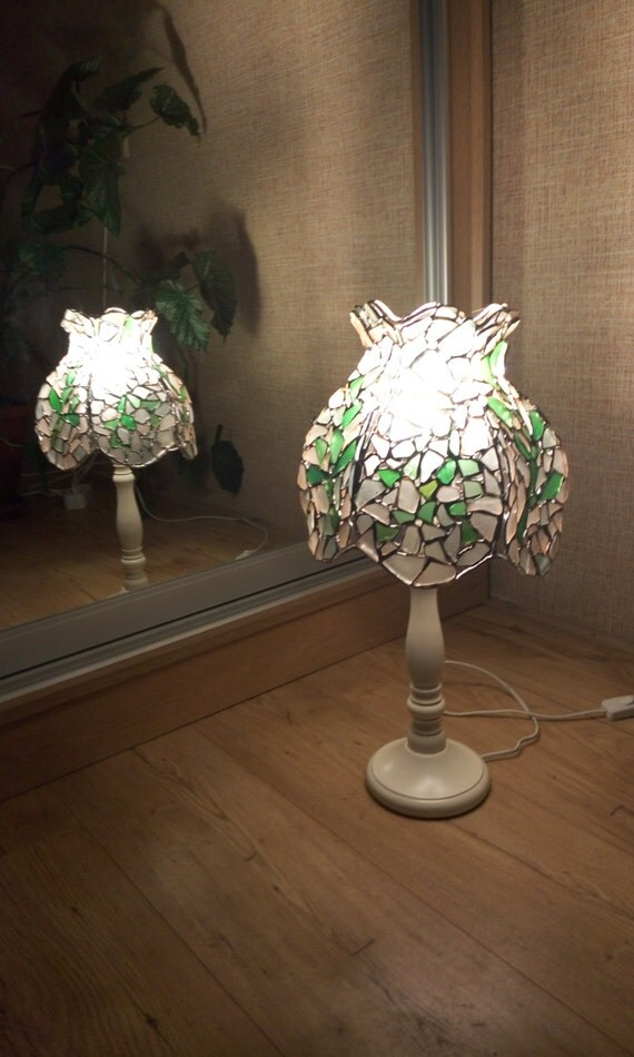Stained Glass Tiffany Sea Glass Table Lamp By Seastainedglass
