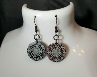 Dark Circular Earrings