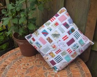 Happy Scrappy Cushion