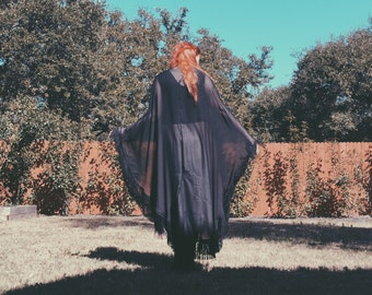 "Stevie Nicks Black Chiffon ""Rhiannon"" Shawl"
