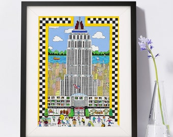 Empire State Building Art Painting PSNY - Home Decor