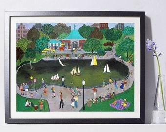 New York Art - Central Park Kerbs Boathouse Art - Home Decor - New York Gift - NYC Art Print - Pat Singer's New York