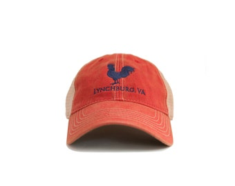Meanwhile Back on the Farm Trucker Hat - Washed Red