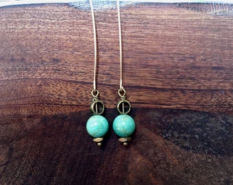 Upcycled Green Glass Spheres