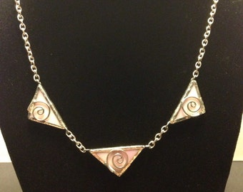 Pink stained glass chain
