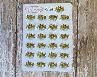 Salad Stickers, Healthy Eating Stickers, Food Stickers, Erin Condren Planner Stickers, C-116.
