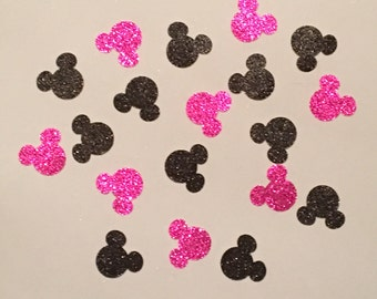 200 Minnie Mouse Confetti Glitter Confetti Minnie Mouse Birthday Confetti Minnie Mouse Baby Shower Confetti Minnie Mouse Decor Pink Black