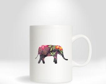 Mug - Elephant, elephant coffee mug, coffee mug, animal mug, animal coffee mug