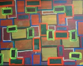 Screens, Original abstract art painting