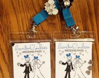 Disney Wedding Pin Trading Lanyards - 2016