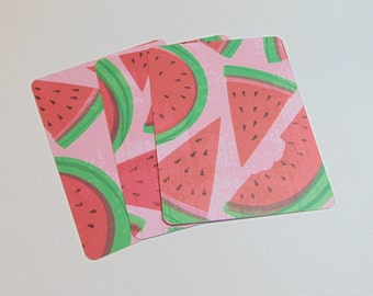 3x4 Watermelon Slice Cards Set of 3