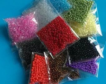 80g+ seed beads 2mm Glass 11/0 quality Beading Kit Mixed colour miyuki Jewellery Making Jewelry Earring Bracelet Necklace Craft supply UK